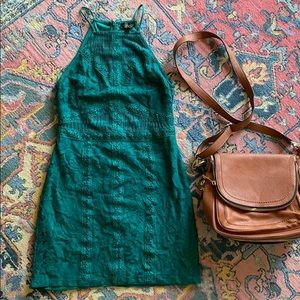 Green topshop dress
